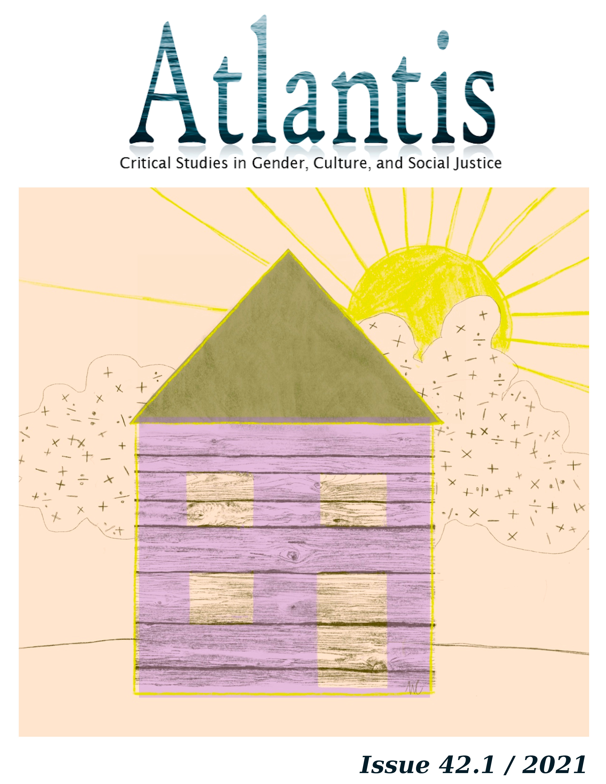 Illustration by Marianne Charlebois showing a wooden house and a cloud with mathemathical signs.